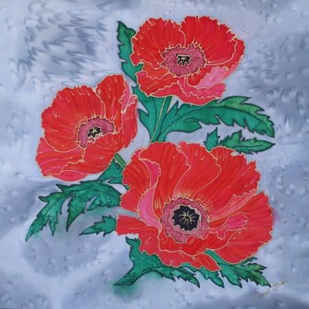 Hand Painted Silk Flower Paintings Carol Olsen Design