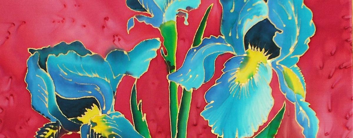 carol olsen hand painted silk scarves argyll art