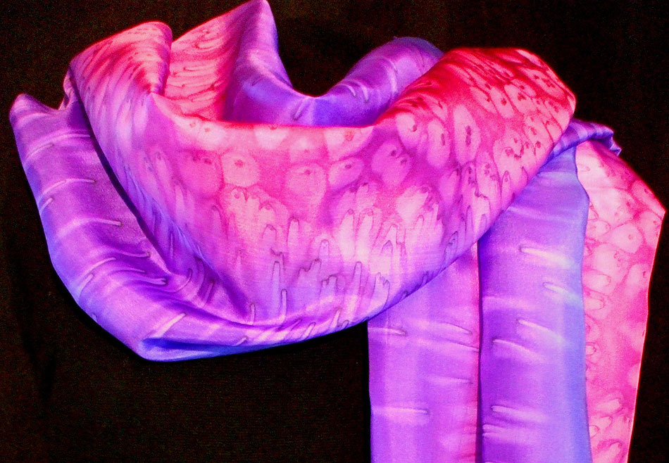 Purple Salt Silk Scarf
